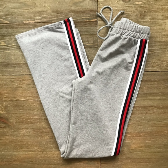 Windsor Pants - Windsor High Waist Side Stripe Sweatpants